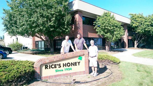 From left, Scott Rice, Mike Lordemann and Jim Rice stand in front of what will be the new headquarters for Rice's Honey. The three all work for and are invested in the business in varied ways. Jim, who is the patriarch of the Rice family, said he is very excited to see where this expansion will take Rice's Honey in the future.