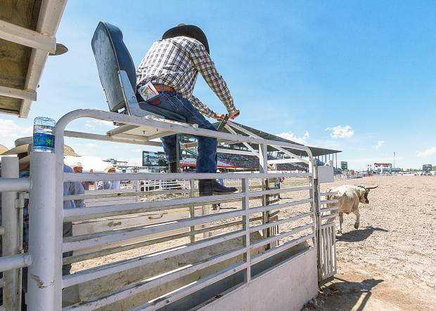 CFD could not excist with out its volunteers and Jim Mueller has spent 55 years as a volunteer, mostly dooing just what you see here. Certainly no stranger to rodeo Mueller was also a long-time steer roper.