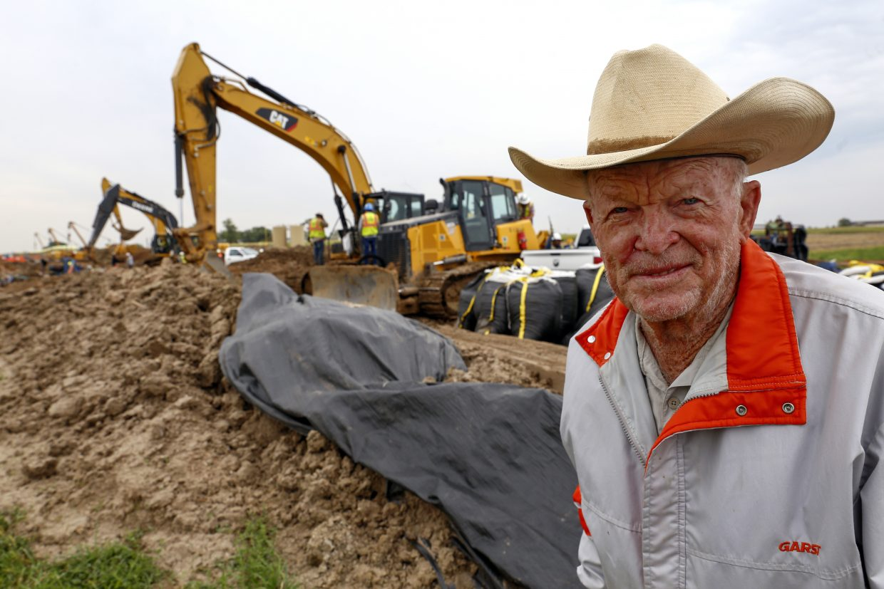 George Maxey has been farming for 62 years and this will be the sixth pipeline installed on his property.