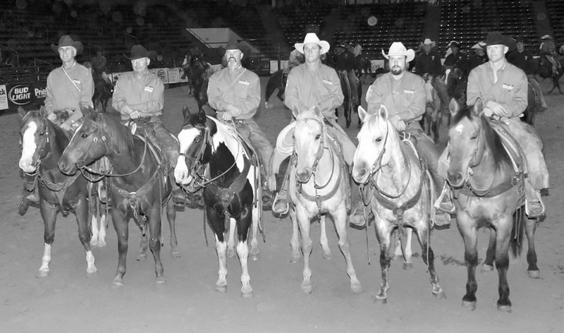 <b>Tony Bruguiere</b>The T-Cross Ranch Rodeo team had been competing for seven years. Left to right is Steve Norris, Bill Waddoups, 'Dusty