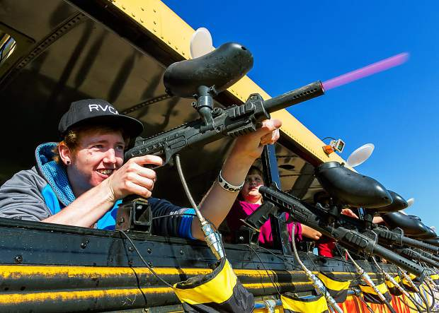 The Paintball Busses continue to be a top attraction at the Fritzler Corn Maize in LaSalle, Colorado.