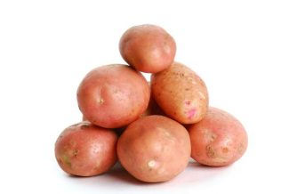 Heap of red potato