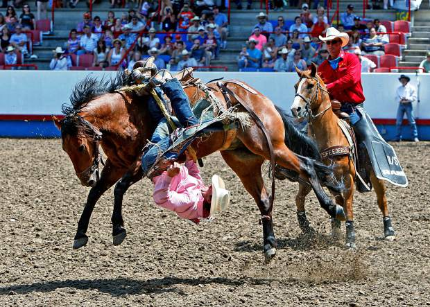 July 4th Championship Rodeo Action In Greeley Colo