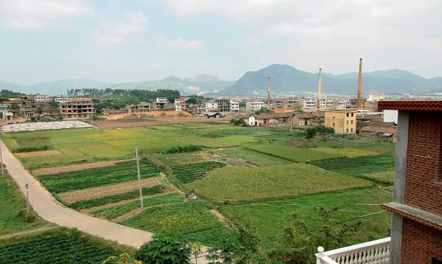 Hanmei and Derrick Hoffman visited Hanmei's hometown in southeast China a few years ago. Pictured is Hanmei's town, Putian, where Hanmei first learned about agriculture.