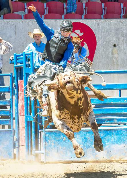 As the riders get older, the bulls get much bigger and more athletic. As a senior bull rider, Cody Havens draws a bull that would be bucking on a Saturday night anywhere in Colorado.