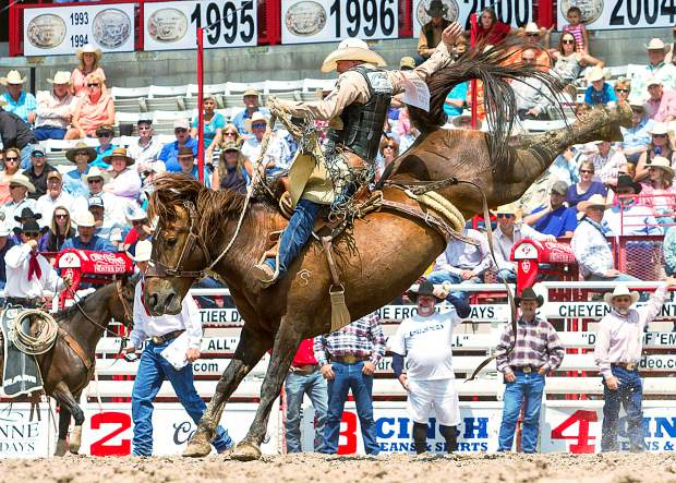 Saddle Bronc rider Taos Muncy qualified for the CFD Cinch Rodeo Shootout by winning in Austin. He finished one point ahead of Cody Taton, the NWSS champion, with 93 points on Smith Rodeo's Going South to win the $10,000.