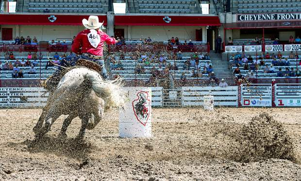 If you are a fan of Barrel Racing, you have to experience Barrel Racing Slack at Cheyenne Frontier Days. Where else can you get this close to the power and shower of dirt generated by professional barrel racing horses?