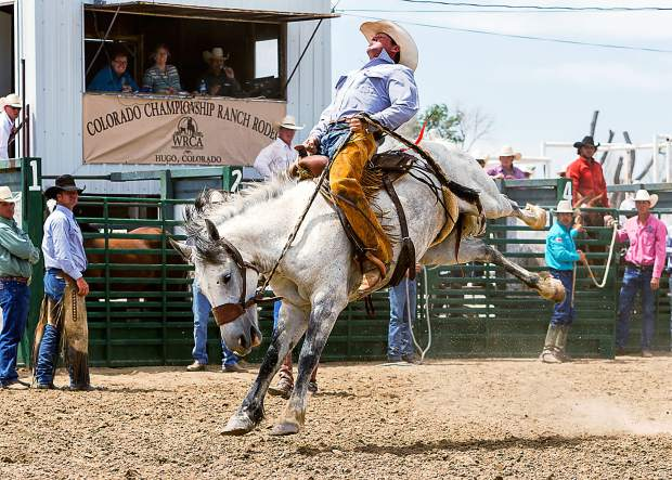 Brady Burnham from the Flying A Ranch located in Fowler, Colorado took home the winner's check at the Jeremiah Ward Memorial Bronc Ride. Burnham covered Kirsten Vold's Betty White for a high score of 71 points.