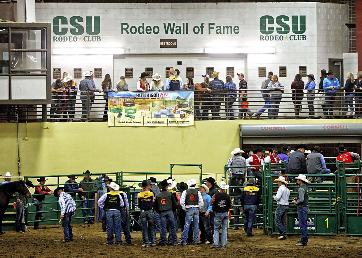 """67th annual Skyline Stampede Rodeo participants and fans were treated to the unveling of the first ever class of CSU Rodeo Wall of Fame inductees on Saturday night, April 08. """"They have been showing more interest in the alumni group in the last three or four years,"""