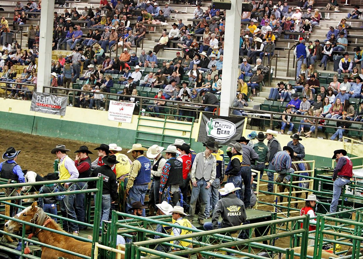 A good sized crowd showed up at the B.W. Pickett Arena on the Colorado State University campus to watch14 teams compete in Saturday night's round of action during the 67th annual Skyline Stampede Rodeo, which is college rodeo's longest running rodeo.