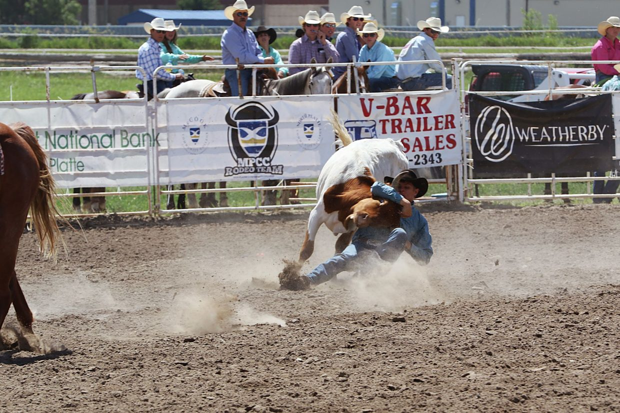 Zane Patrick, Bartlett, is the 2017 Nebraska High School Rodeo steer wrestling co-champion. He shares the title with JT Bradley of Brewster.