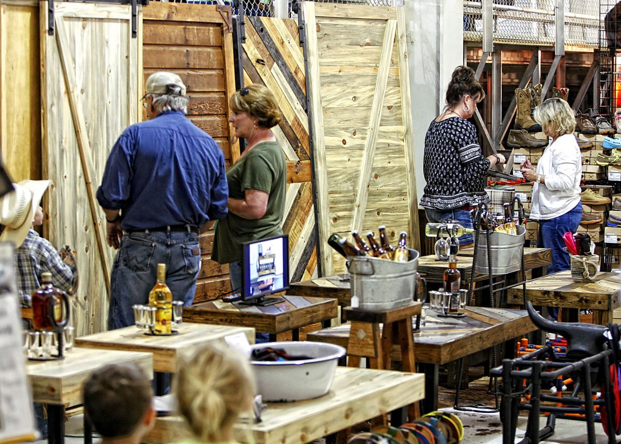 There were plenty of shopping opportunites on hand for the third annual Rock'n Western Rendezvous at The Ranch events center at Loveland, Colo. Clothing, accessories and even custom furniture and doors from Rustic Custom Designs tempted visitors to the cowboy-themed event.