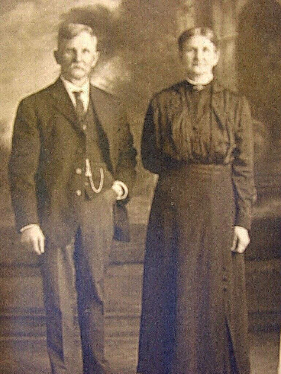 John Hugo Anderson and wife in an early photo. Anderson, a Colorado homesteader, was Wassam's paternal great, great grandfather who farmed and ranched on his Longmont property in the late 1800s.