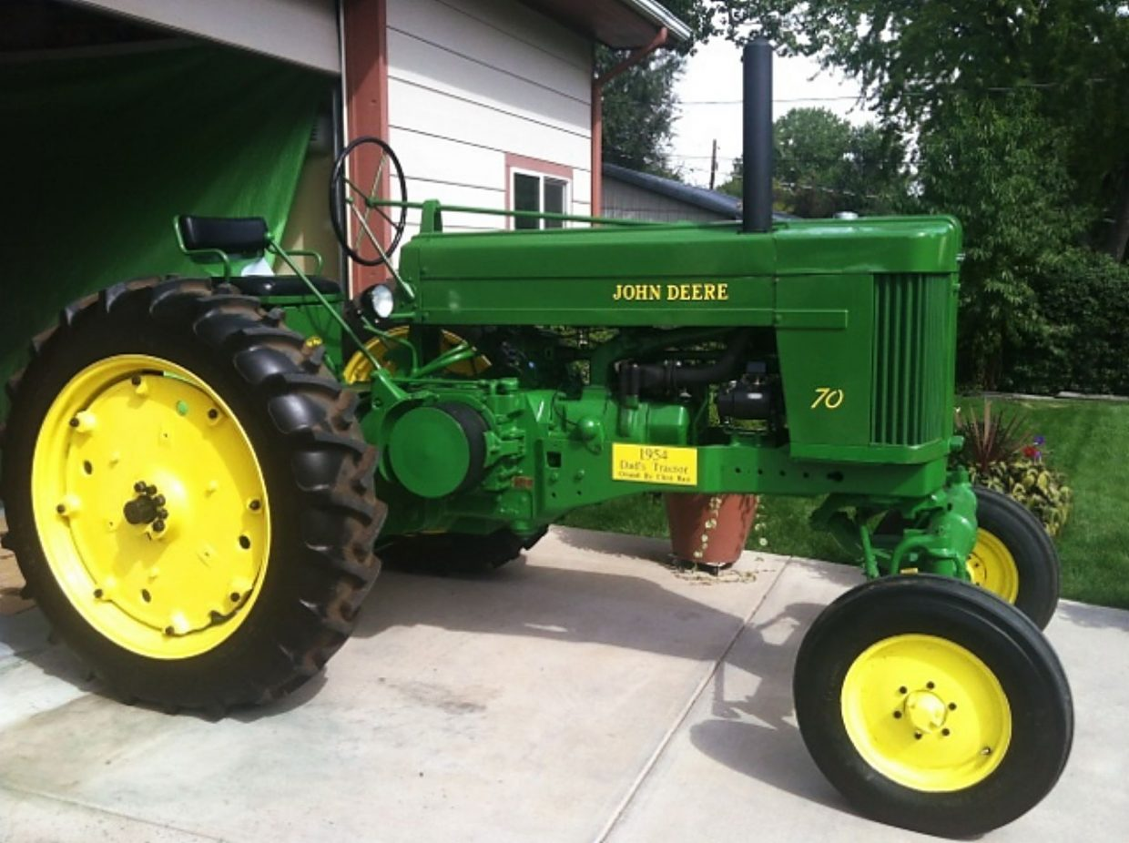 John Deere 70 Tractor : Arvada man unwittingly buys and restores his father s john