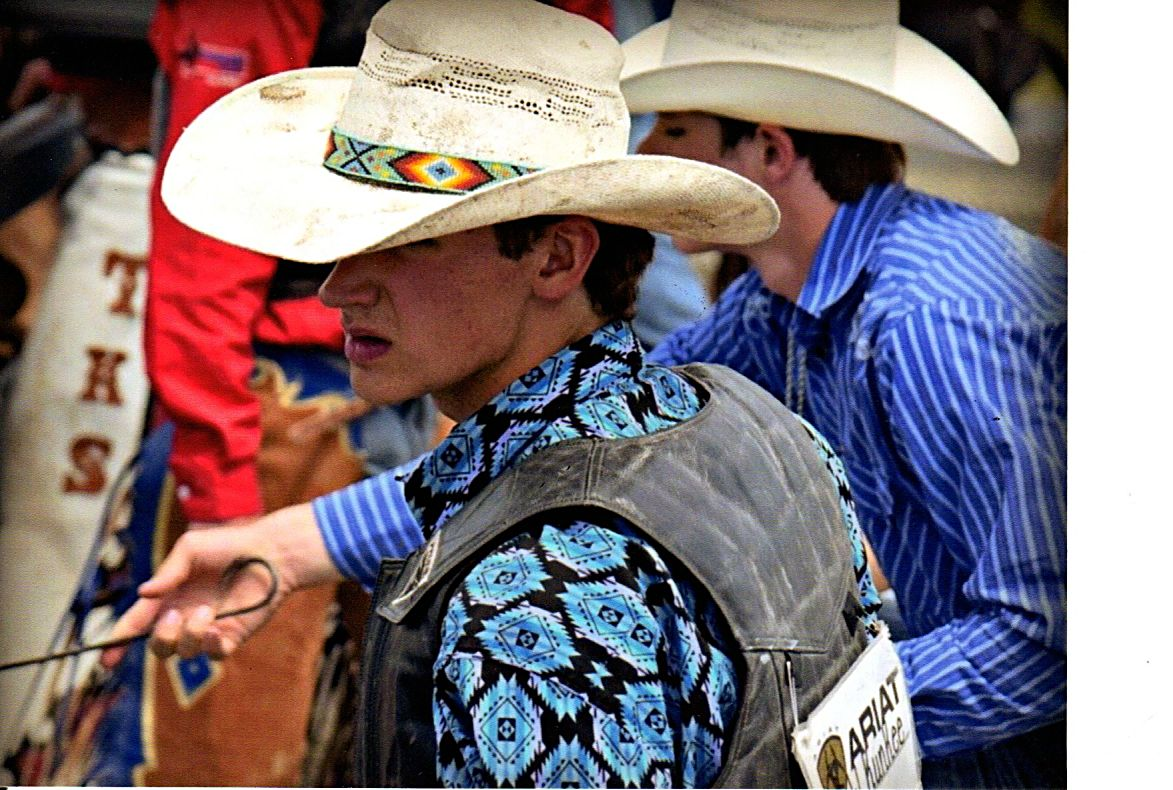 Sitting Tall In The Saddle Young Cowboy Doesn T Let