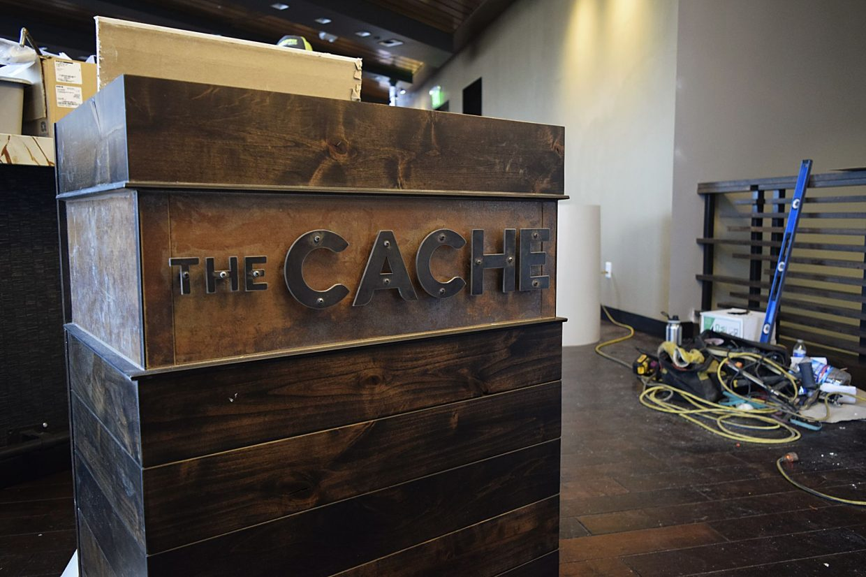 One of the two restaurants at Ginger & Baker is The Cache, named for the Cache de la Poudre river near the restaurant/bakery. The wood, as is the case for much of the fixtures, is refurbished from wood originally in the 110-year-old mill.