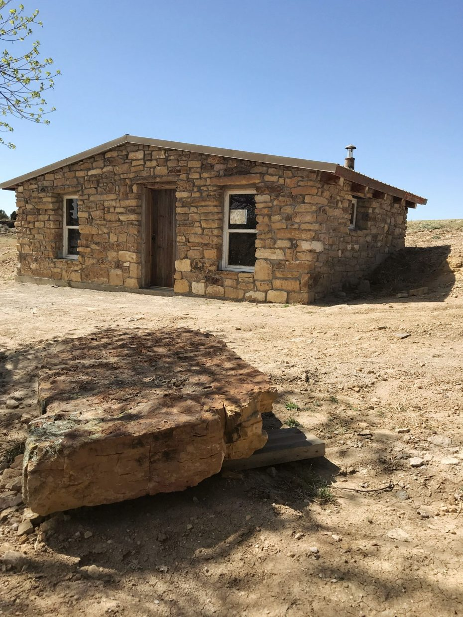 Pictured is the original Emick homestead after it was rebuilt.