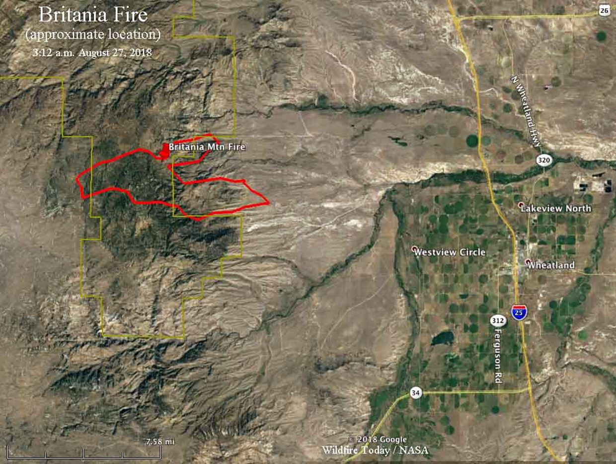 Britania Mountain Fire Burns Usfs And Private Land West Of Wheatland
