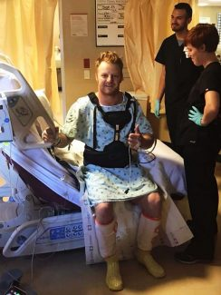 A miracle in the works: JR Vezain on the road to recovery after severe back injury