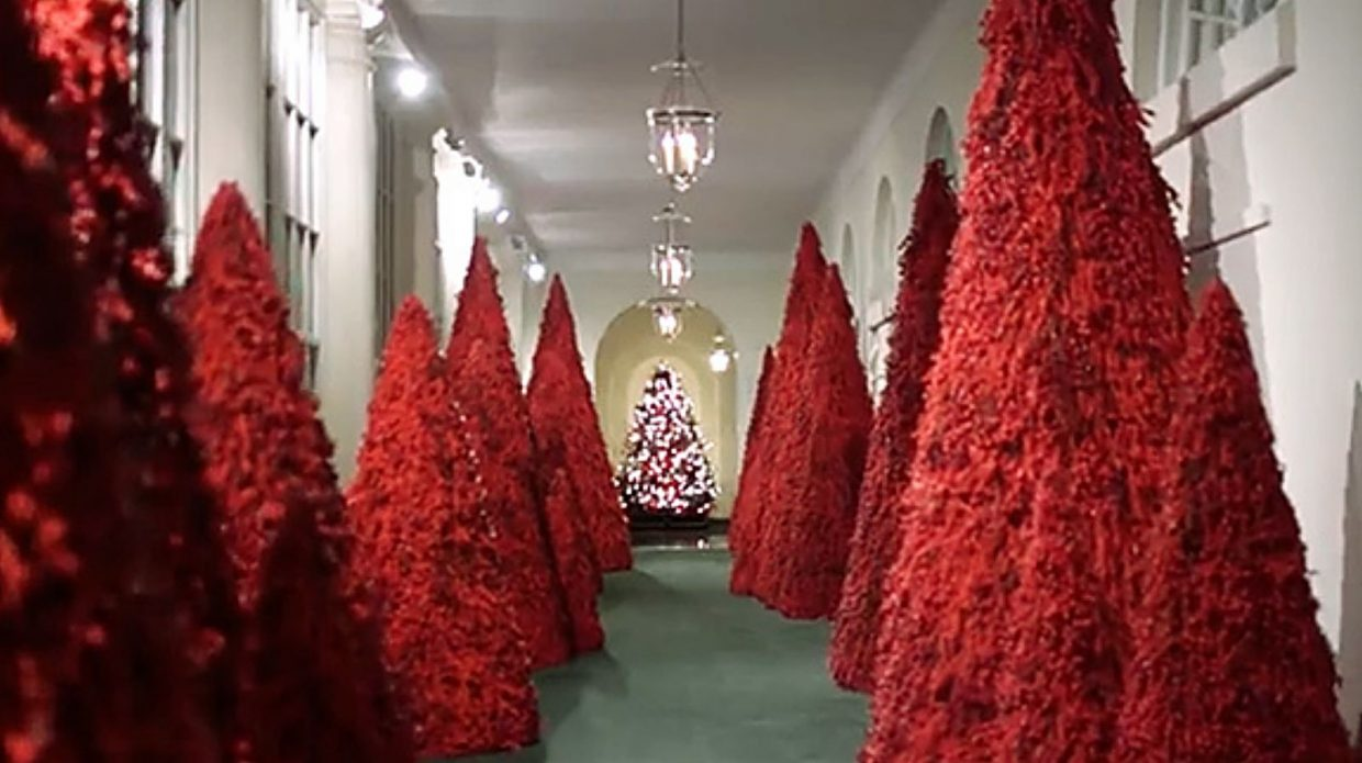 White House Christmas Features Red Trees Nation S Bounty Thefencepost Com