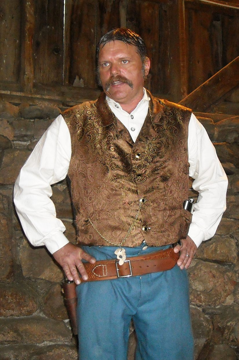 Although considerably older than the character, Jack Slade, that he portrays in his one-man show of the same name, Gordon Chavis nevertheless captivates the audience at the historical Batterson Barn in Red Feather Lakes, Colo.