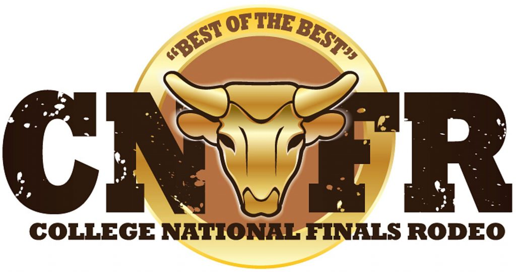 Saddle bronc riders jockey for position at the College National Finals Rodeo